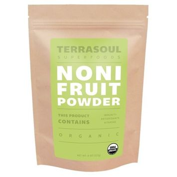 Terrasoul Superfoods Organic Noni Fruit Powder, 8 Ounces