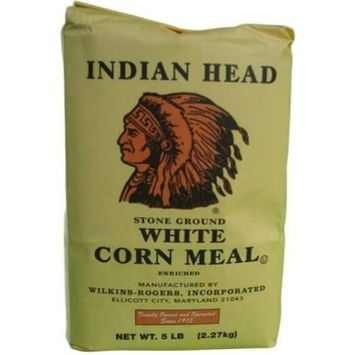 Indian Head Corn Meal Stone Ground White 5lb Bag [Stone Ground 5lb]