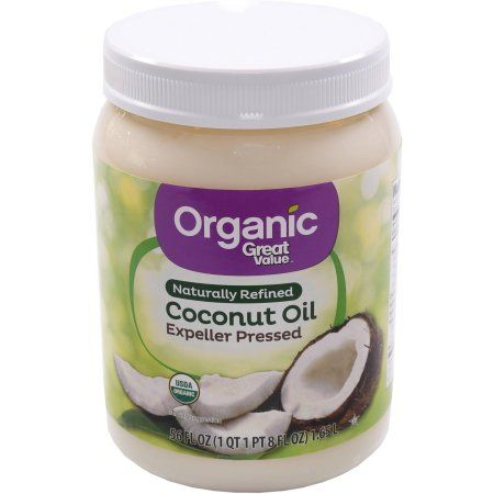 Great Value Organic Naturally Refined Coconut Oil, 56 oz