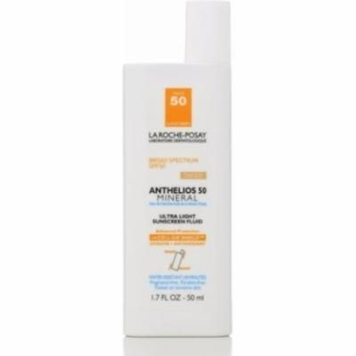La Roche-Posay Anthelios 50 Ultra Light Sunscreen Fluid, Tinted, SPF 50 1.7 oz (Pack of 4)