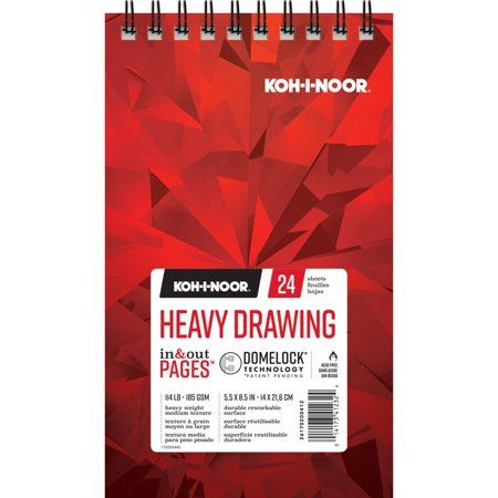 Koh-I-Noor Heavy Drawing Pad, 24 Sheets, 5.5in x 8.5in