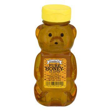 Gunter's Pure Clover Honey, 12 Oz Bottle (3 Pack)