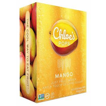 Chloe's Soft Serve Fruit Popsicle Bar, Mango, 4 Count (Frozen)
