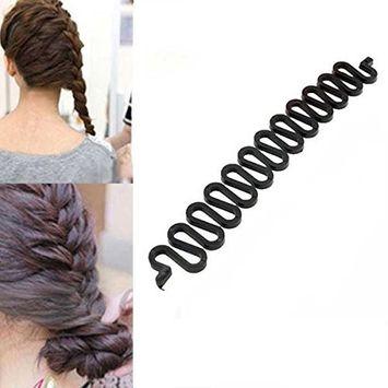 Fashion Style Ponytail Curly Hair Braider DIY Twist Twister Braid Tool Magic French Hair Holder Clip Stick AOSTEK(TM)