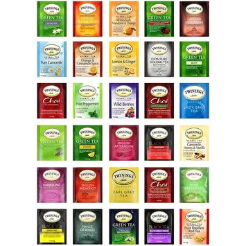 Snack Chest Twinings Tea Assortment Variety Sampler, Selection of Different Tea Flavors