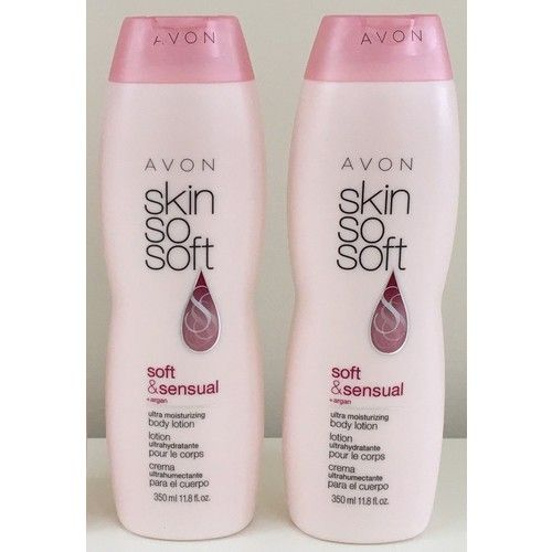 Lot of 2 Avon Skin So Soft SSS Soft & Sensual Body Lotion Argan Oil 11.8 oz. ea.