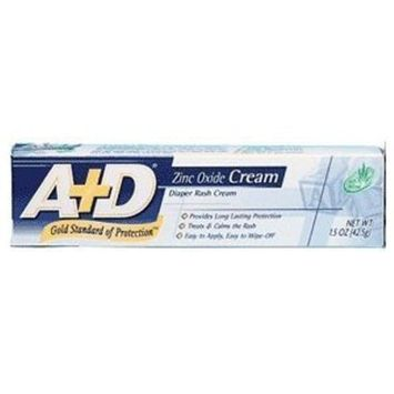 A+D Medicated Diaper Rash Cream With Aloe - 1.5 Oz (Pack of 2)