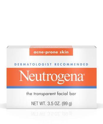 Neutrogena® Glycerin Soap Bar for Acne-Prone Skin, Dye-Free, Non-Comedogenic
