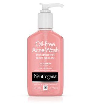 Neutrogena® Pink Grapefruit Acne Face Wash & Cleanser with Vitamin C & Salicylic Acid