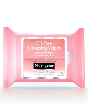 Neutrogena® Oil-Free Cleansing Wipes-Pink Grapefruit