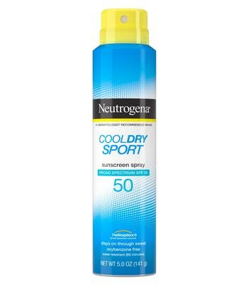 Neutrogena® Cool Dry Sport Water-Resistant Sunscreen Spray, SPF 50