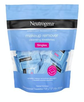 Neutrogena® Individually Wrapped Makeup Remover Wipes, Alcohol-Free & Travel-Friendly Singles