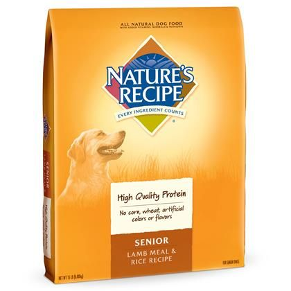 Nature's Recipe Senior Lamb Meal & Rice Dry Dog Food