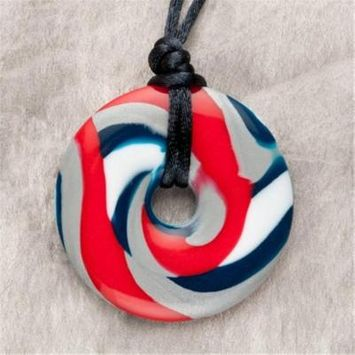 Teething Bling NFL6 Red Blue and Silver