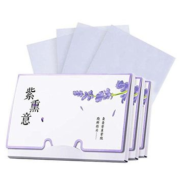 Portable Design Oil Control Blotting Paper, Lavender Scent, 300 sheets