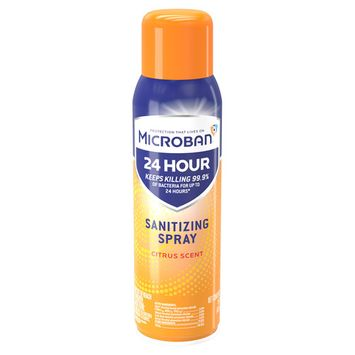 Microban 24 Hour Disinfectant Sanitizing Spray, Citrus Scent, 15 fl oz