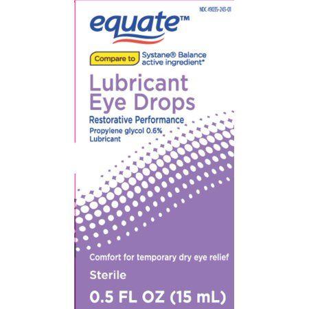 Equate Lubricant Eye Drops Restorative Performance, 0.5 Fl. Oz.