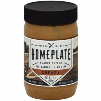 Home Plate Creamy Peanut Butter, 16 oz., (Pack of 6)