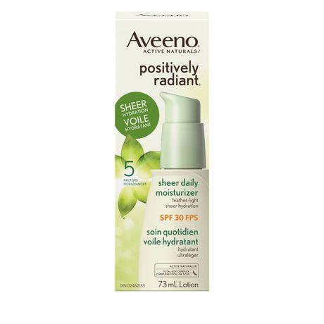 Aveeno Sheer Face Moisturizer SPF 30, Positively Radiant