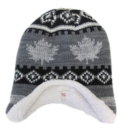 Canadiana Toddler Boy Fairisle Helmet Hat