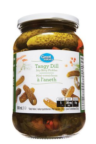 Great Value Tangy Dill Itty Bitty Pickles
