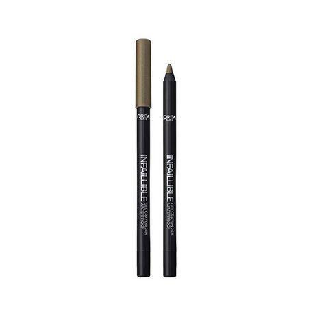 L'oreal Khaki Green Eyeliner 24hr Waterproof Infallible Pencil Gel Longlasting