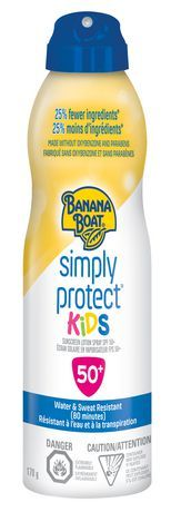 Banana Boat Simply Protect Kids Sunscreen Spray, Made Without Oxybenzone And Parabens, Spf 50+