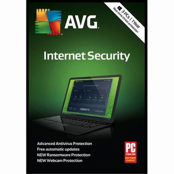 Avg 1 Year Internet Security 2018 3 Users