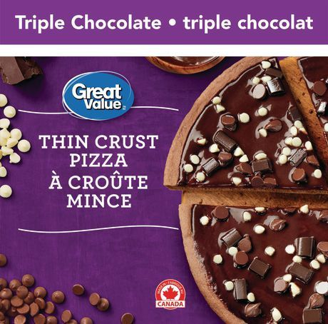 Great Value Triple Chocolate Thin Crust Pizza
