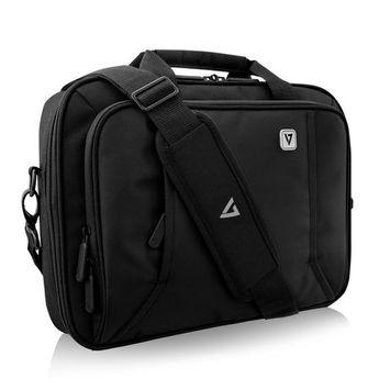V7 CCP13-BLK-9N 13 in. Professional Frontloading Laptop Case, Black