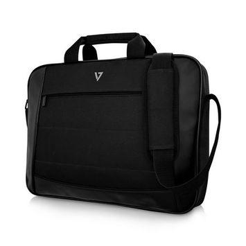 V7 CTK16-BLK-9N 16 in. Essential Laptop Carrying Case, Black