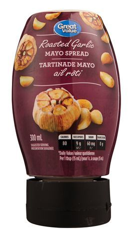 Great Value Roasted Garlic Mayo Spread
