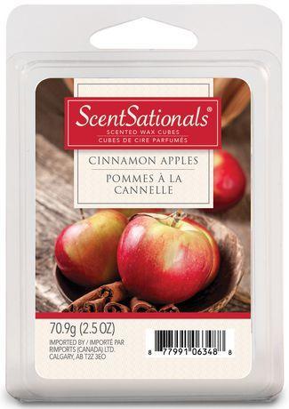 Scentsationals Wax Cinnamon Apples Red 6 Pieces