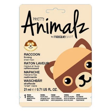 Pretty Animalz By Masque Bar Pretty Animalz Raccoon Sheet Mask