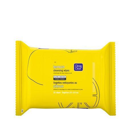 Clean & Clear Lemon Cleansing Face and Makeup Wipes with Vitamin C