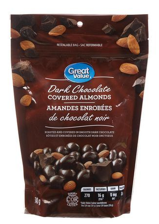 Great Value Dark Chocolate Covered Almonds