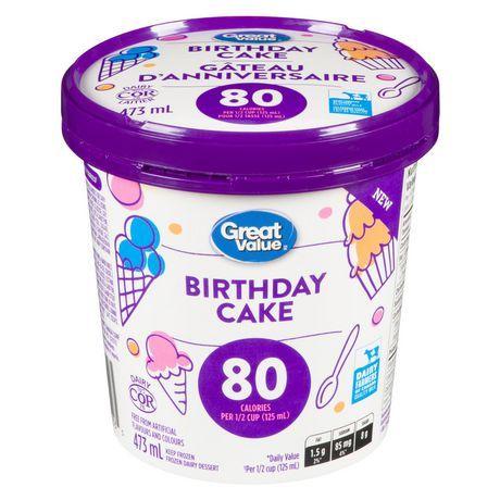 Great Value Birthday Cake Frozen Dairy Dessert
