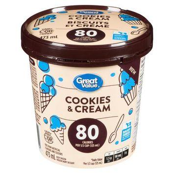 Great Value Cookies and Cream Frozen Dairy Dessert