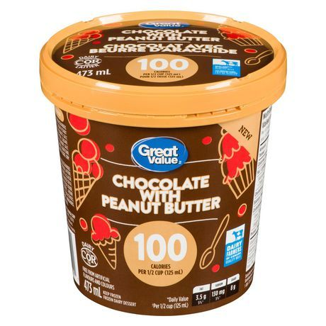 Great Value Chocalate with Peanut Butter Frozen Dairy Dessert