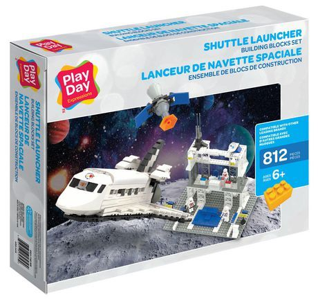 Play Day Shuttle Launcher 812 Piece Building Blocks Construction Set