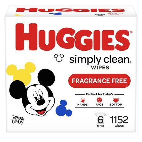 Huggies Simply Clean Fragrance-Free Baby Wipes, Refill Pack None