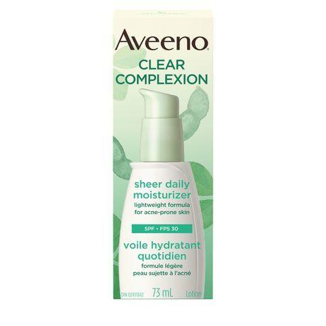 Aveeno Clear Complexion Face Moisturizer SPF 30 for Acne Prone Skin