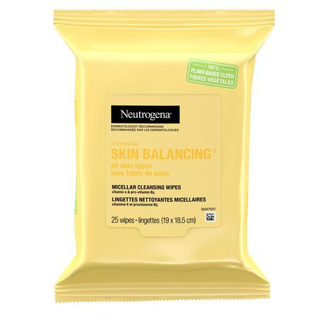 Neutrogena Skin Balancing Micellar Cleansing Wipes With Vitamin E And Provitamin B5, Makeup Wipes, 25 Cloths #1