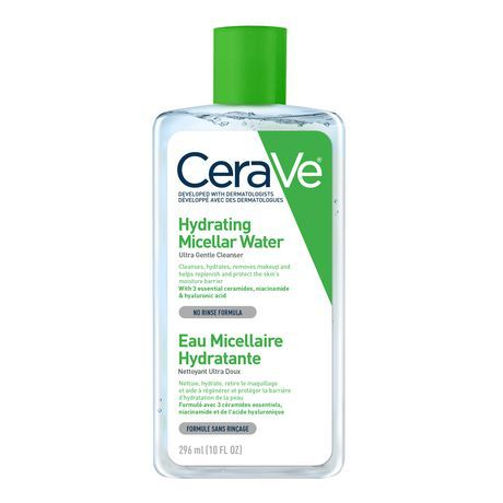 Cerave Hydrating Micellar Water Cleanser & Eye Makeup Remover With Essential Ceramides, Hyaluronic Acid And Niacinamde ( 1