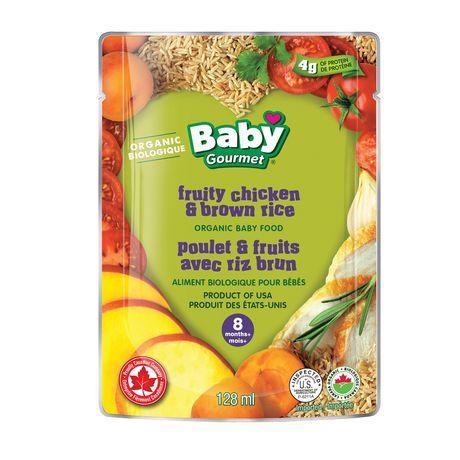 Baby Gourmet Foods Inc Baby Gourmet Fruity Chicken & Brown Rice Organic Baby Food Meal
