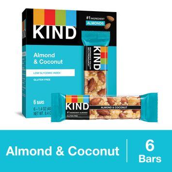 KIND Almond & Coconut Bars, Low Glycemic Index, Gluten Free Bars, 1.4 OZ Bars