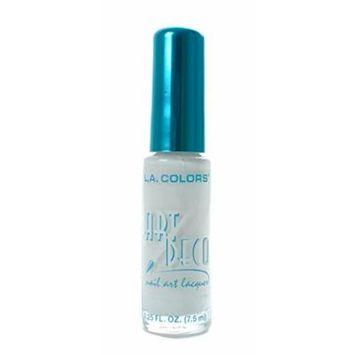 L.A. Colors 5 Pcs Nail Art Nail Deco Nail Lacquer Nail Polish White