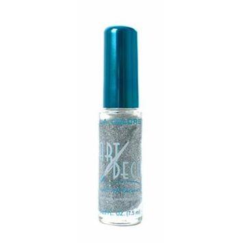L.A. Colors 5 Pcs Nail Art Nail Deco Nail Lacquer Nail Polish Silver Glitter