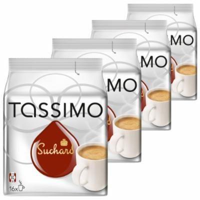 Tassimo Suchard Hot Chocolate, Pack of 4, 4 x 16 T-Discs