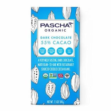 Pascha Organic Dark Chocolate 55% Cacao, 3.5 Ounce (Pack of 10)
